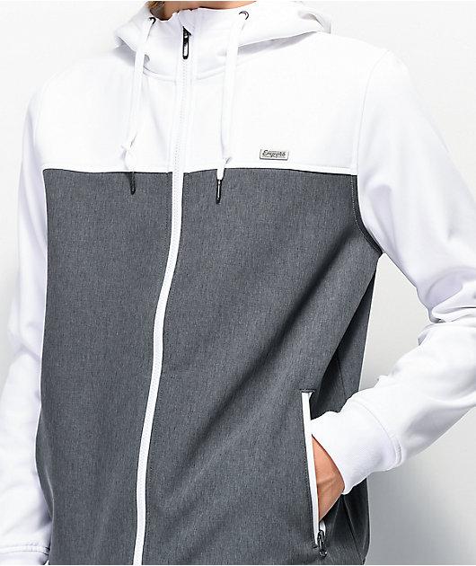 Empyre Highlights White & Charcoal Tech Fleece Jacket