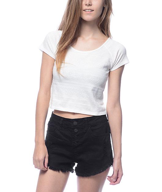 Empyre Ida Stretch White Crop T-Shirt