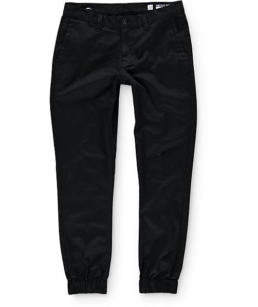 Empyre Jag Black Twill Jogger Pants