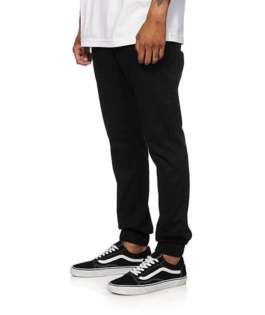 Empyre Jag pantalones chinos joggers de tela asargada