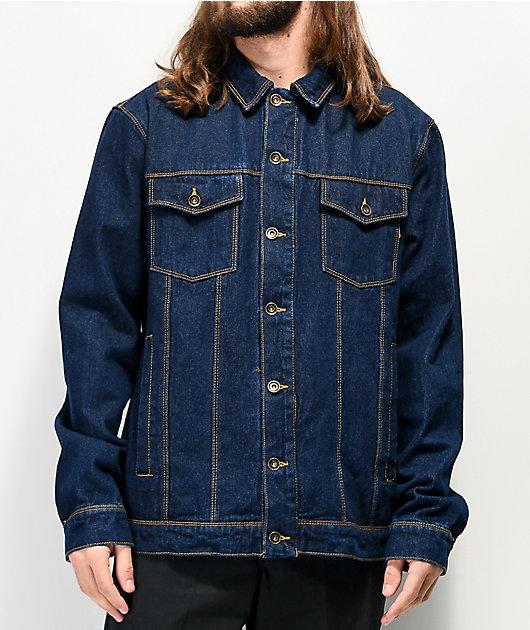 Empyre Jorden Raw chaqueta de mezclilla azul