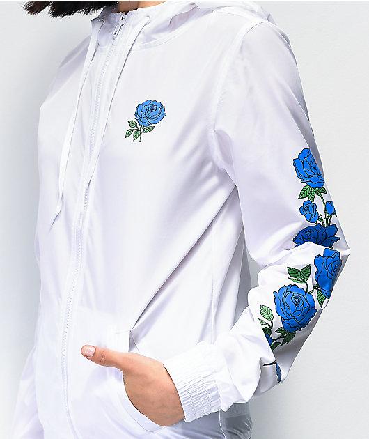 Empyre Keana Blue Rose White Windbreaker Jacket