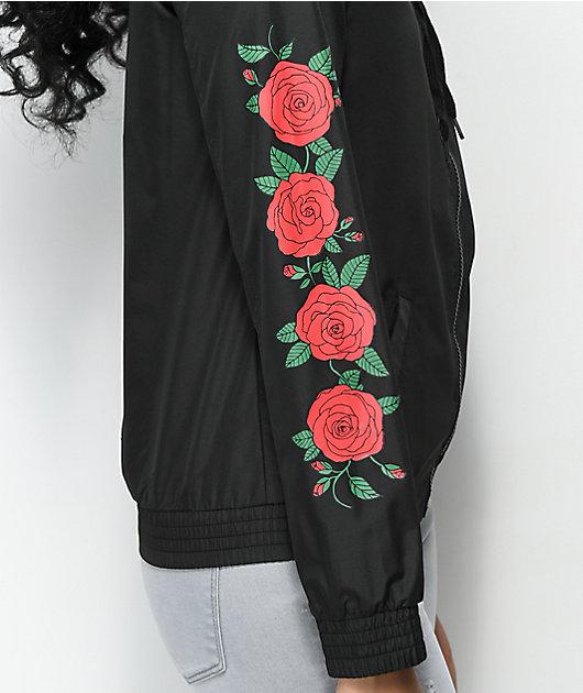 Empyre Keana Rose Black Windbreaker Jacket