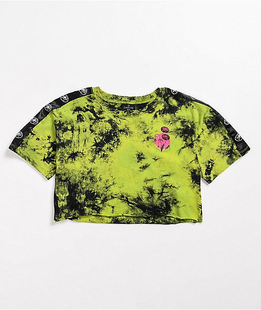 Empyre Kipsy Snake Green Tie-Dye Crop T-Shirt