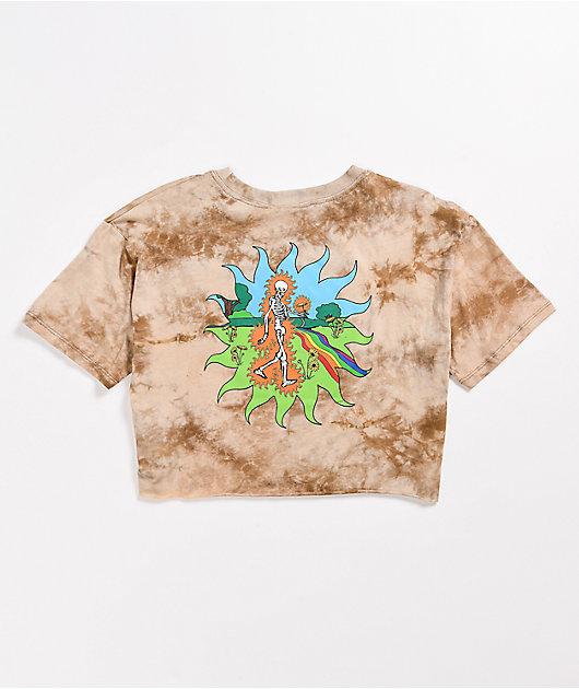 Empyre Kipsy Tan Tie Dye Crop T-Shirt