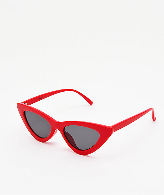 Empyre Kit Red & Black Cateye Sunglasses