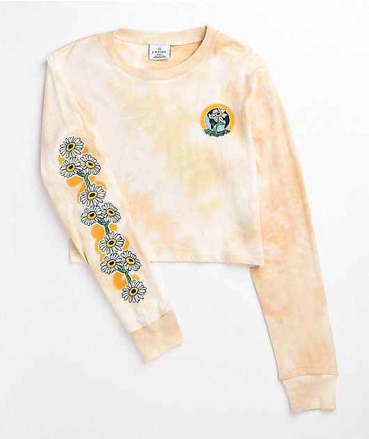 Empyre Kode Grow Peace Tie Dye Long Sleeve Crop T-Shirt