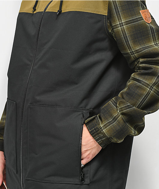 Empyre Larch Olive Plaid 10K Snowboard Jacket