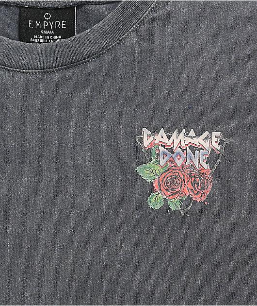 Empyre Laynie Skulls Grey Mineral Wash T-Shirt