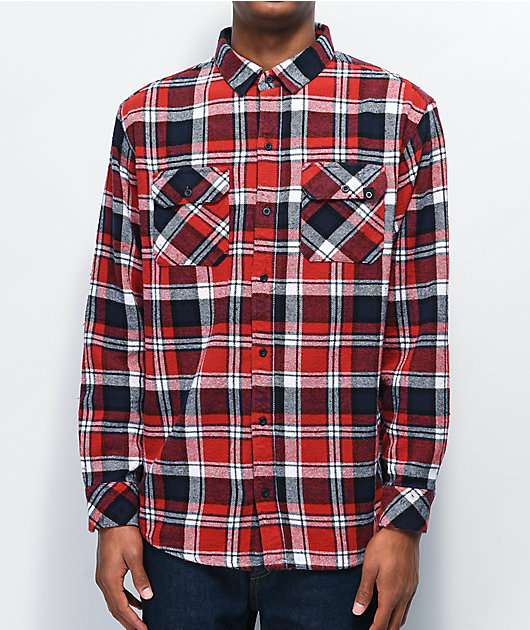 Empyre Lestat Red & Blue Flannel Shirt