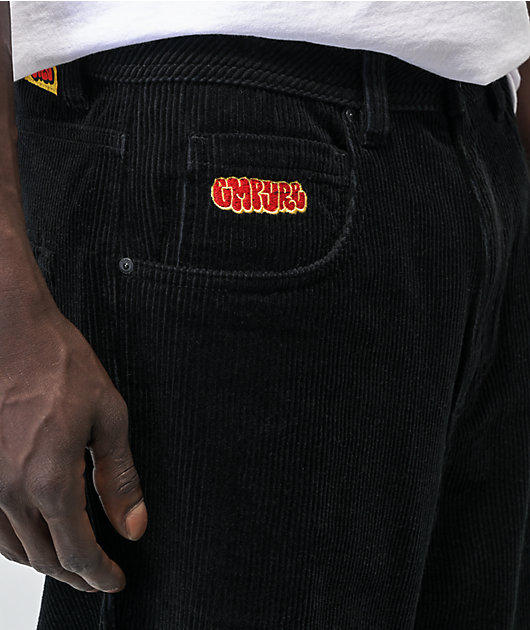 Empyre Loose Fit Black Corduroy Skate Pants