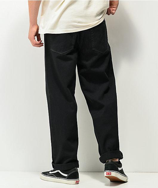 Empyre Loose Fit Black Denim Skate Jeans