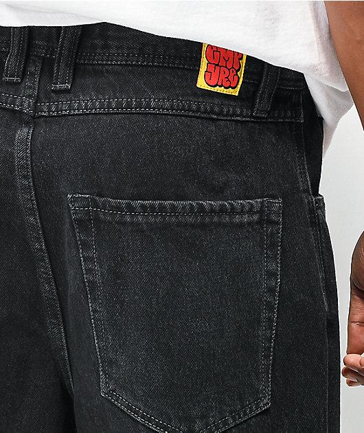 Empyre Loose Fit Black Shmutz Wash Skate Jeans