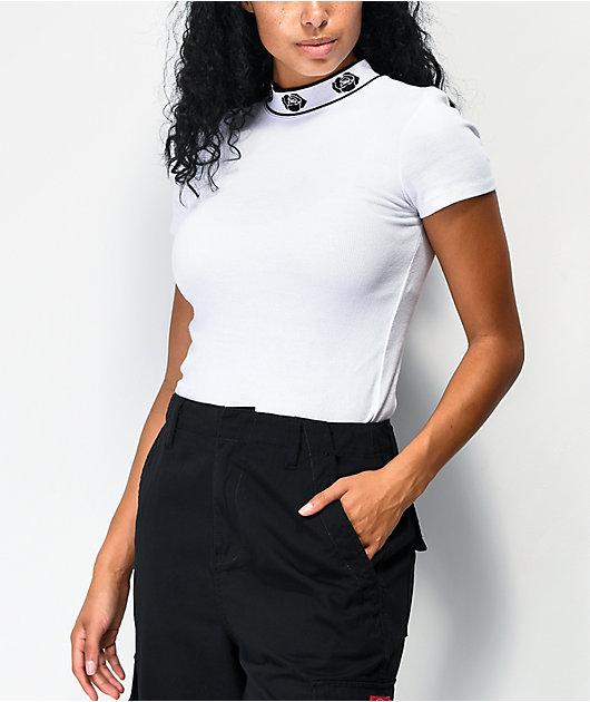 Empyre Mayzie camiseta de punto blanco