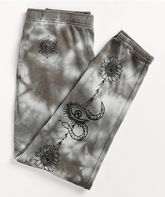 Empyre Meleah Grey Tie Dye Jogger Sweatpants