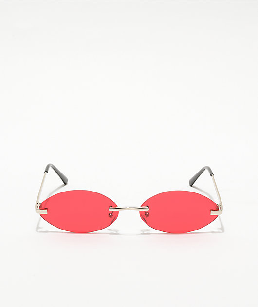 Empyre Miller Red Rimless Sunglasses