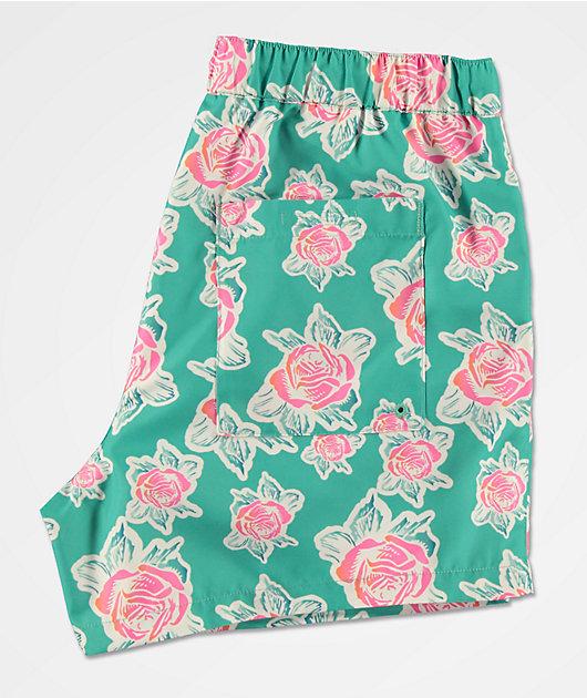 Empyre Ollie shorts de baño en rosa y menta