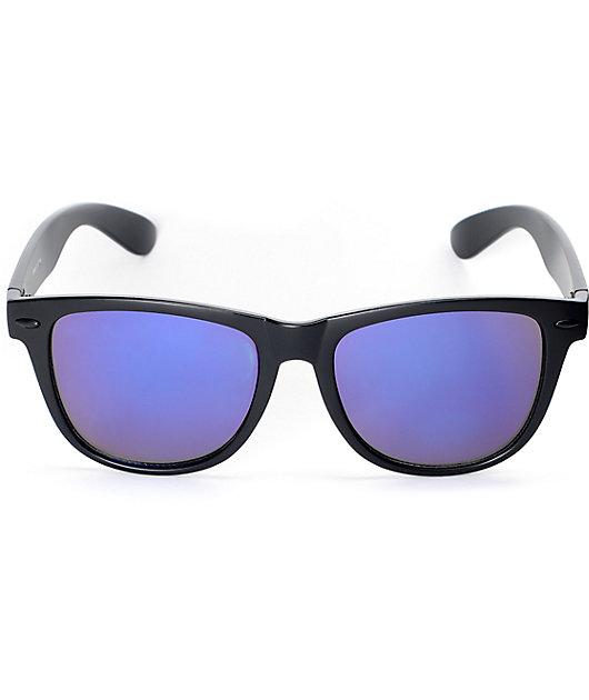 Empyre Orwell Black & Purple Mirrored Classic Sunglasses