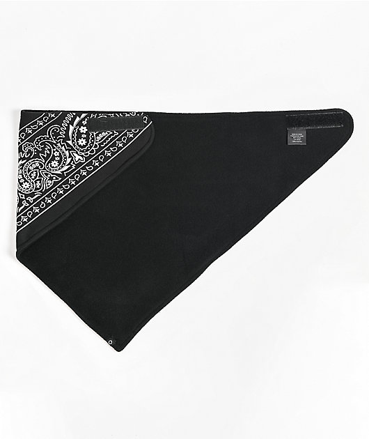 Empyre Paisley Black Fleece Bandana