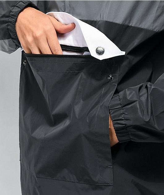 Empyre Pauly Reflective Black & Grey Anorak Jacket