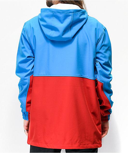 Empyre Pine Softshell 10k chaqueta de snowboard azul y roja