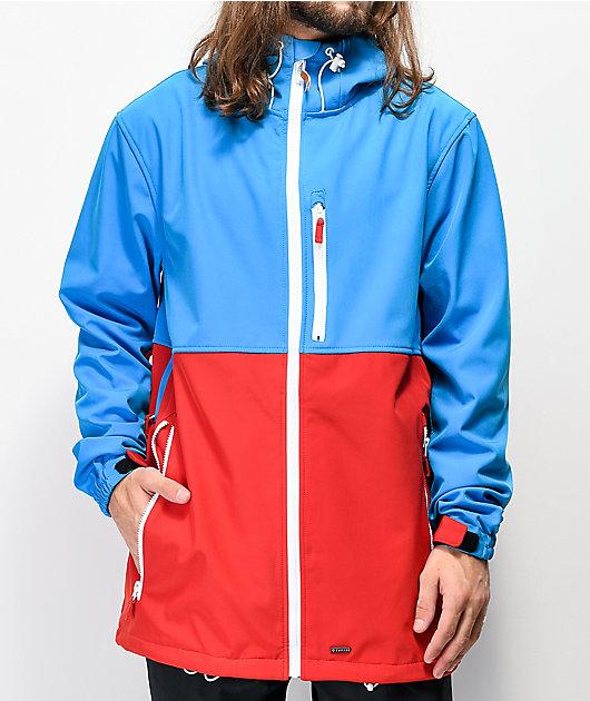 Empyre Pine Softshell Blue & Red 10K Snowboard Jacket