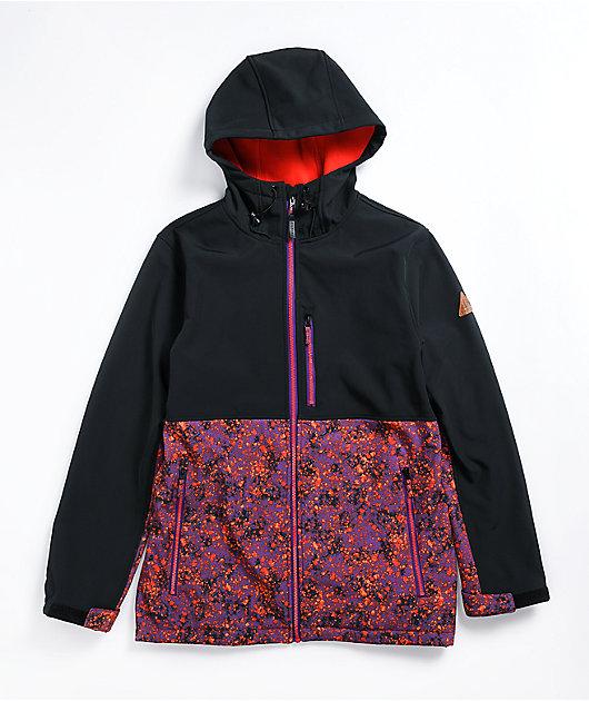 Empyre Pine Spotted Black & Purple 10K Snowboard Jacket