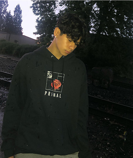 Empyre Primal Rose Black Hoodie