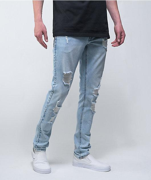 Empyre Recoil Jonah Destroy Light Wash Skinny Jeans