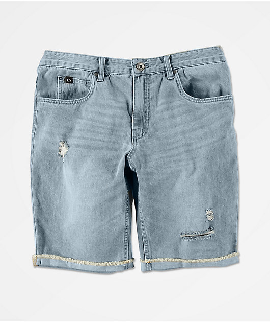 Empyre Richmond Aged Medium Blue Denim Shorts