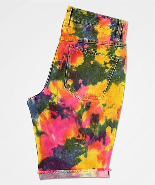 Empyre Richmond Tie Dye Denim Shorts