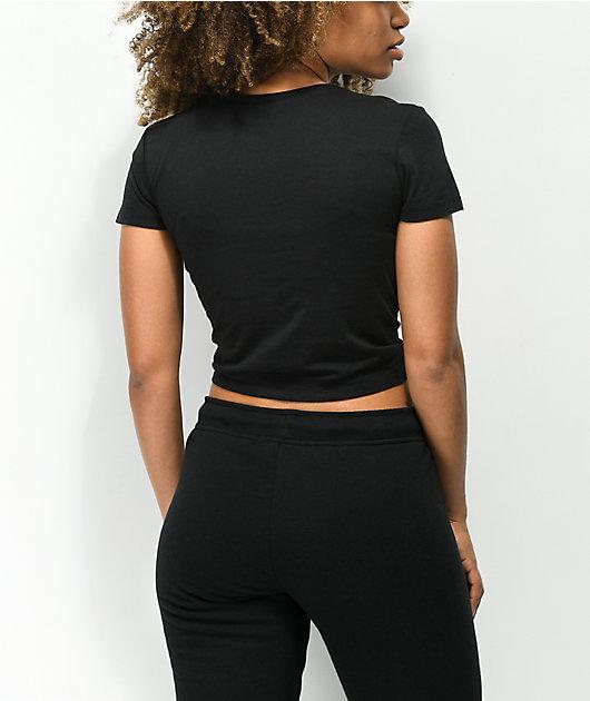 Empyre Rose Black Knot Crop T-Shirt