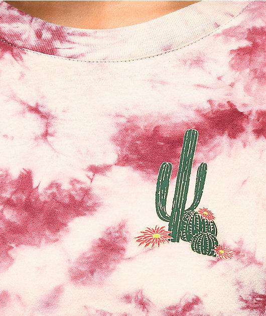 Empyre Rubino Cactus Burgundy Tie Dye Long Sleeve T-Shirt