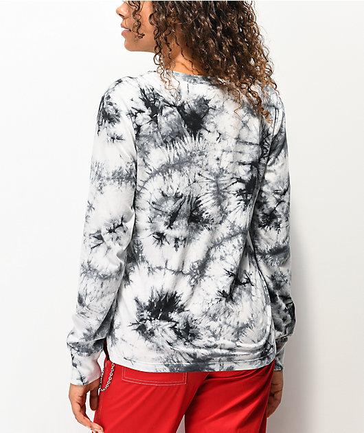 Empyre Rubino Rose camiseta tie dye negra y gris de manga larga