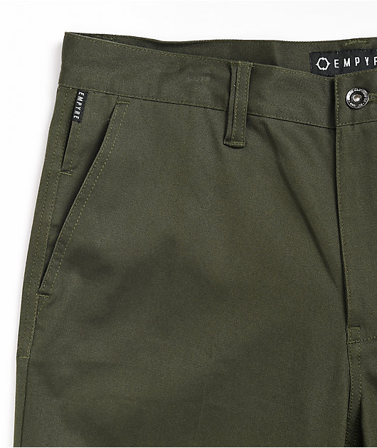 Empyre Seth Forest Green Cropped Chino Pants
