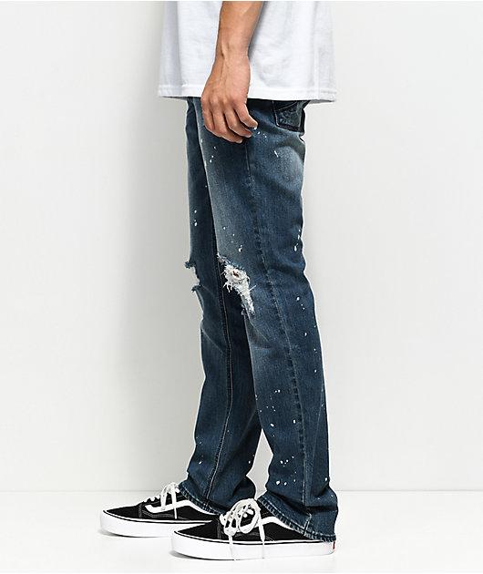 Empyre Skeletor Sawyer Bleached Splattered Jeans