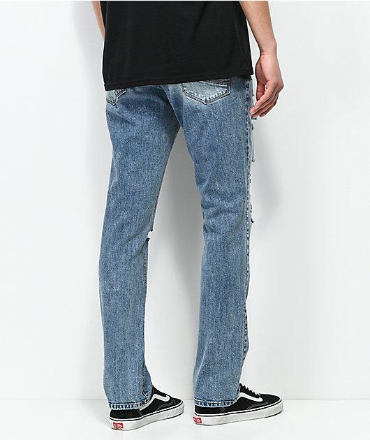 Empyre Skeletor Simon Distressed Skinny Jeans