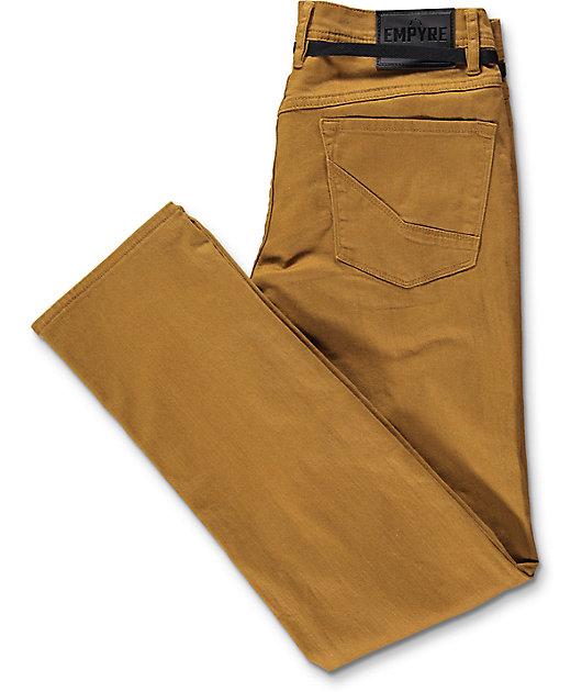 Empyre Skeletor Tobacco Skinny Fit Jeans