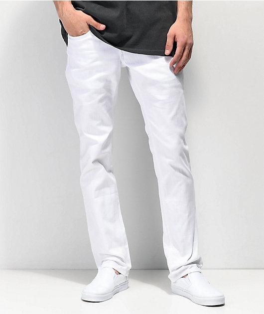 Empyre Skeletor White Denim Skinny Jeans