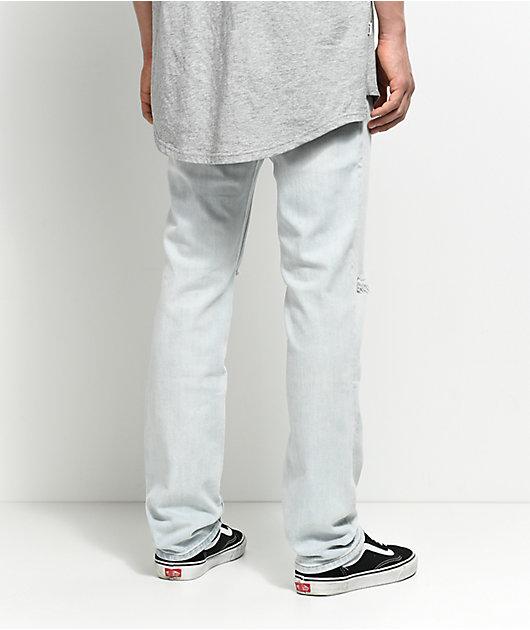 Empyre Skeletor jeans skinny desgarrón claro