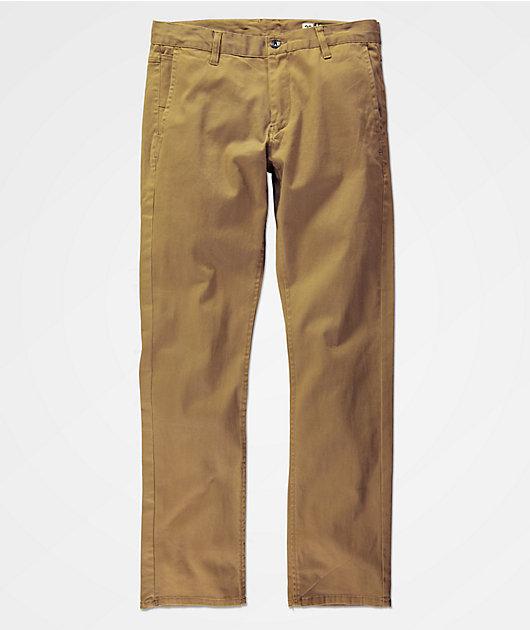 Empyre Skeletor pantalones chinos en caqui oscuro