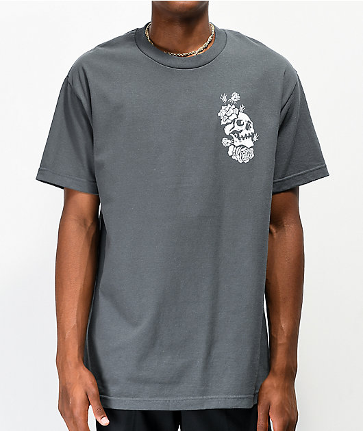 Empyre Skully Rose Charcoal T-Shirt