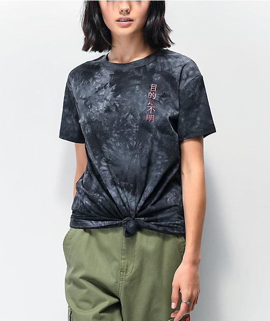 Empyre Sloane Dragon camiseta tie dye negra anudada