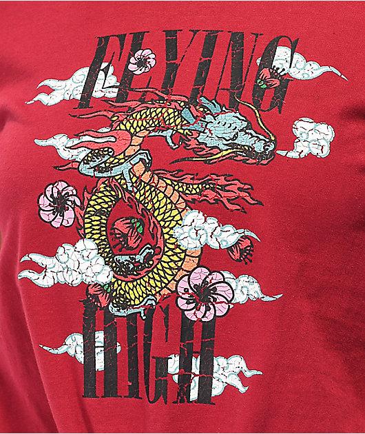 Empyre Sloane Flying High camiseta borgoña anudada