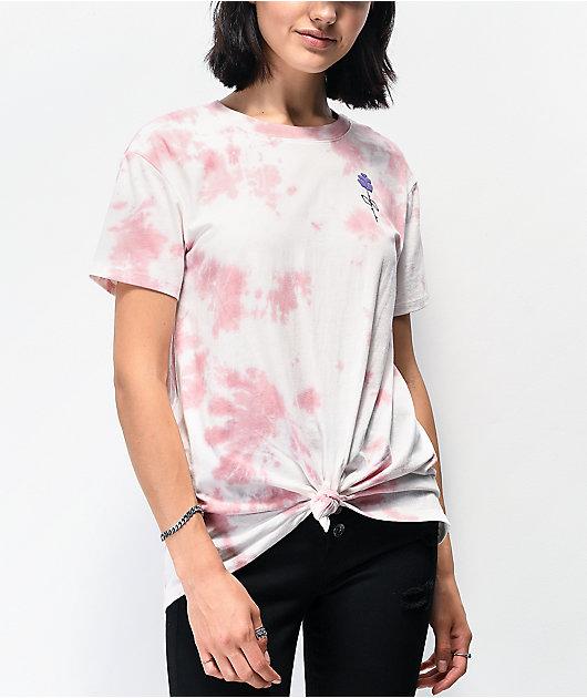 Empyre Sloane Hands Rose Tie Dye Tie Front T-Shirt