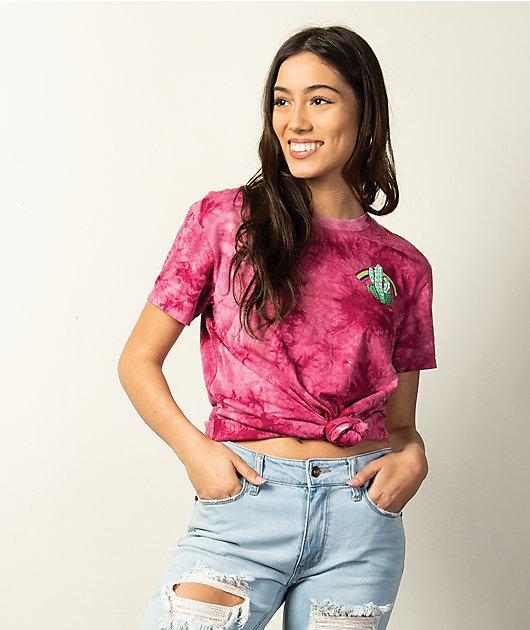 Empyre Sloane Road To Nowhere Burgundy Tie Dye T-Shirt