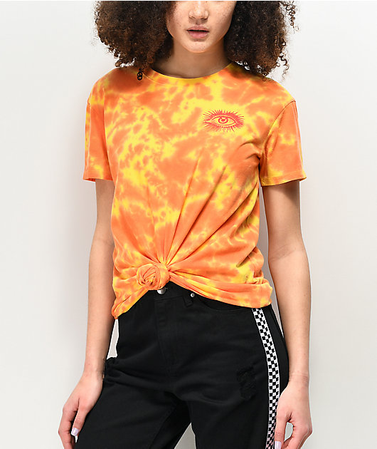 Empyre Sloane Yellow Tie Front T-Shirt