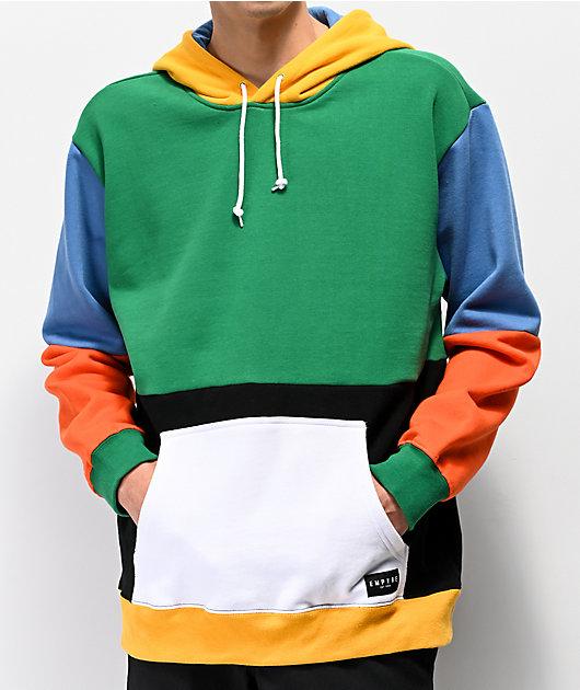 Empyre Spectrum Colorblock Green Hoodie