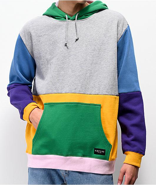 Empyre Spectrum Colorblock Grey Hoodie
