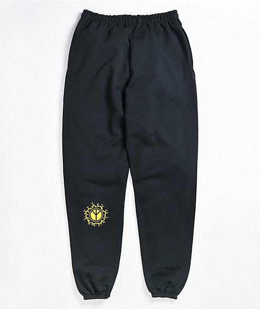 Empyre Spread Peace Black Sweatpants